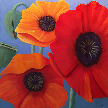 Summer Poppies by Linda Hiller