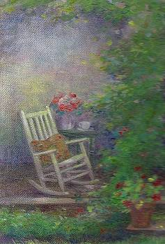 Summer Porch and Rocker by Judith Cheng