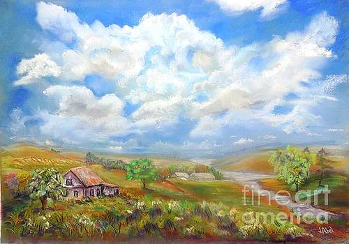 Summer Prairie Landscape by Janice Abel