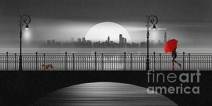 Summer rain at the bridge by Monika Juengling