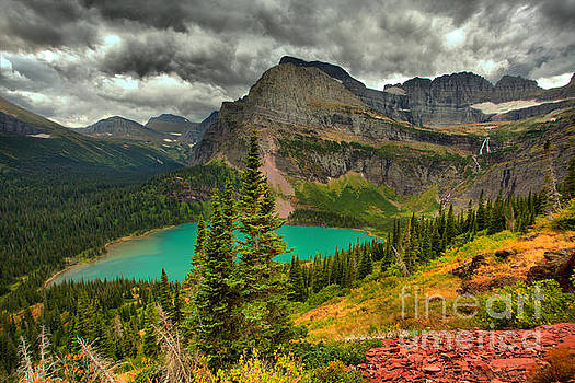 Summer Storms Over Grinnell Lake by Adam Jewell