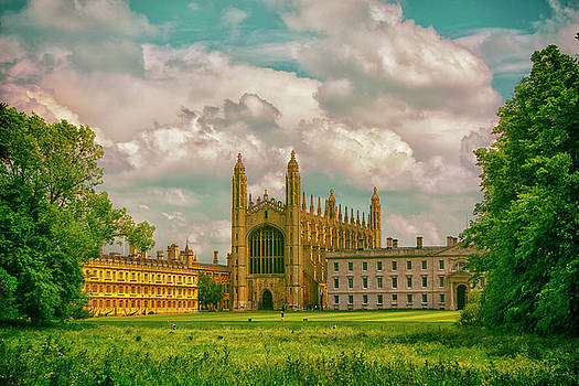 Blue Skies Fall On Kings College Cambridge  by Andrew David Photography