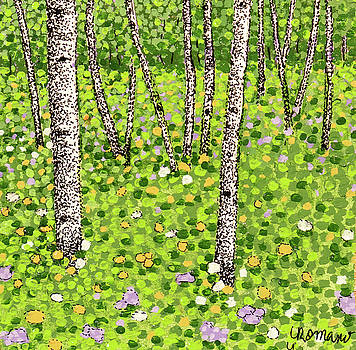 Summer Birch by Valerie Romano