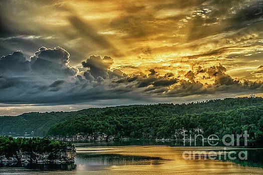 Summersville Lake Sunrise by Thomas R Fletcher