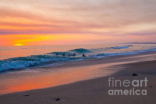 Summertime Ocean Bliss in San Diego California by Christy Woodrow