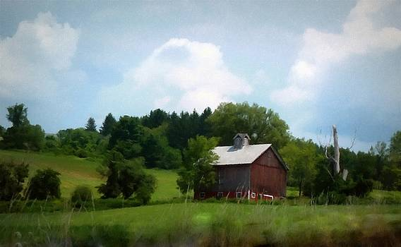 Summertime - Red Barn by Linda Seifried