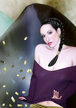 Summoning the Muses - Self Portrait by Jaeda DeWalt