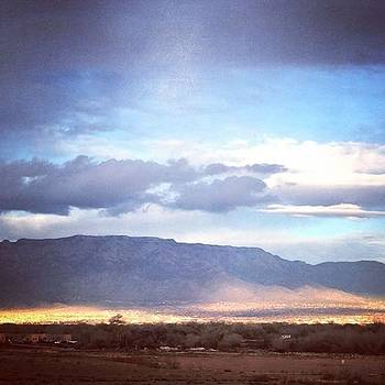 Sun And Clouds #sandias #newmexicotrue by Paula Manning-Lewis