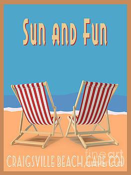 Sun and Fun Craigsville Beach Cape Cod by Edward Fielding