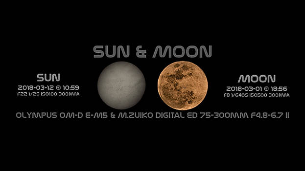 Sun and Moon Labled by Philip A Swiderski Jr