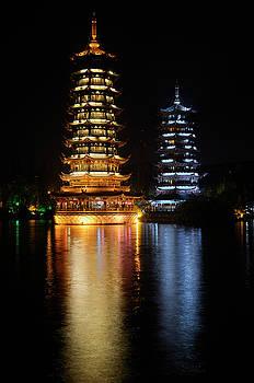 Reimar Gaertner - Sun and Moon Pagodas on Shanhu or Fir Lake in Riyue Shuangta Cul