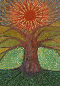 Sun And Tree by Wojtek Kowalski
