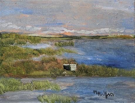 Sun Basking Rownboat by Michael Helfen