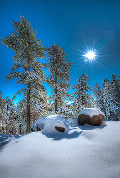 Sun Bursting on Fresh Snow by Mike Hendren