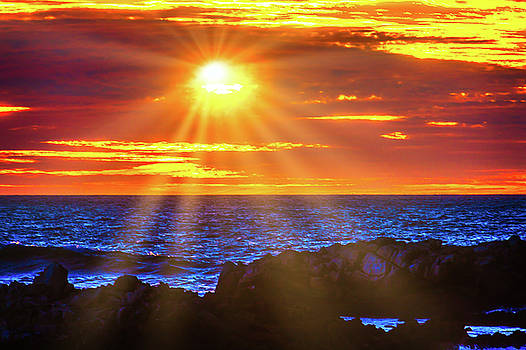 Sun Bursting Through The Clouds by Garry Gay