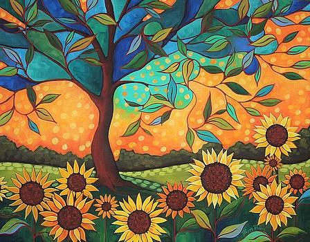 Sun Flower Sunset by Peggy Davis