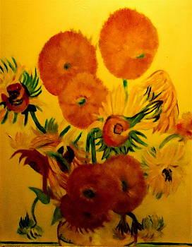 Sun Flowers Copy by Bruce Ben Pope