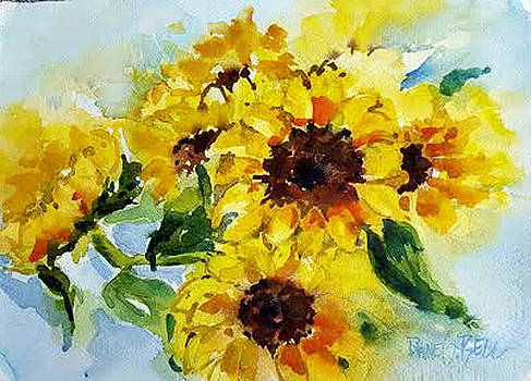 Sun flowers by Diane Bell