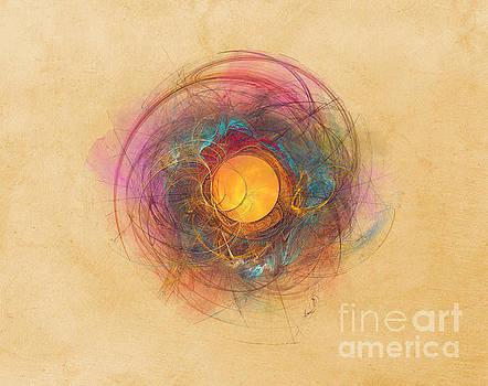 Justyna Jaszke JBJart - Sun Fractal Abstract Art