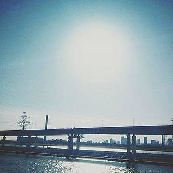 #sun #highway #sky #river #love_all_sky by Bow Sanpo