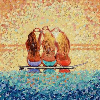 Sun-Kissed Surf Sisters by Lynee Sapere