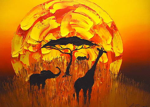 Sun Of Africa 7 by Portland Art Creations