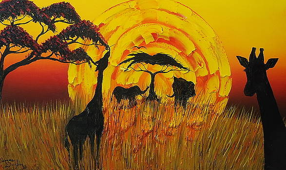 Sun Of Africa 8 by Portland Art Creations