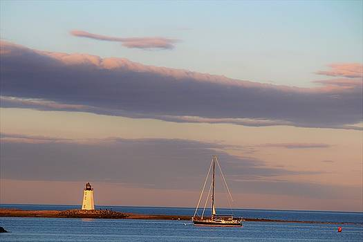 Sun On Lighthouse by Stacie Fernandes