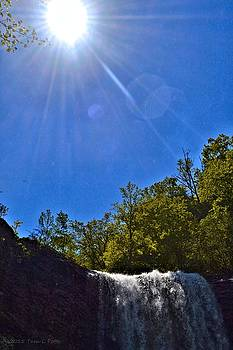 Sun over Lula Lake Falls by Tara Potts