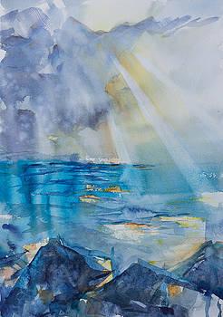Sun-rays on the Lake by Adam VanHouten