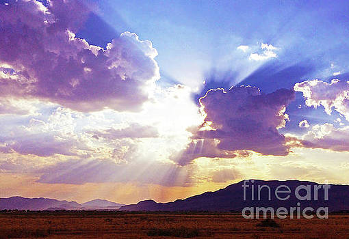 Sun Rays Over The Desert by J Marielle