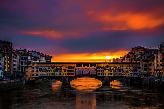 Sun Rises over the Ponte Vecchio by Andrew Soundarajan