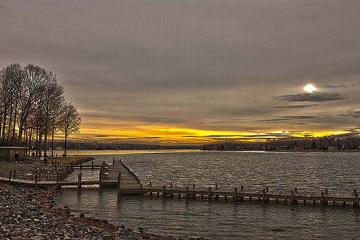 Sun Set at the Lake by George Lovelace
