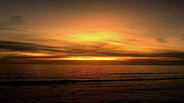 Sun Set On The Gulf by Philip A Swiderski Jr