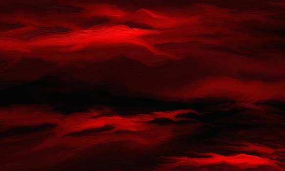 Sun sets in red by Rushan Ruzaick