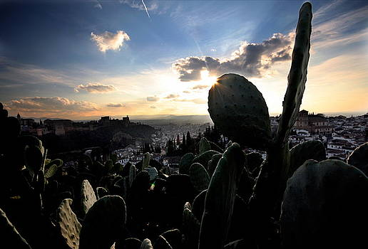 Sun sets on the Alhambra by Jason Hochman