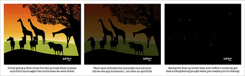 Mickey Wright - Sun Setting on the African Veldt