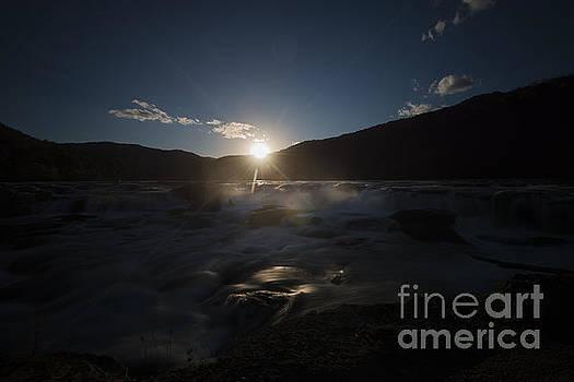 Dan Friend - Sun setting over Sandstone Falls