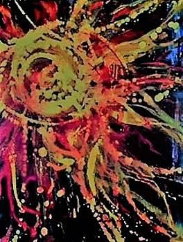 Sun Burst IV by Debbie Frame Weibler
