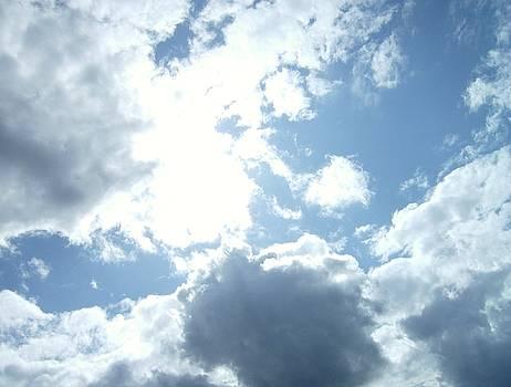 Sun through clouds 1 PacMan by Linda Meyer
