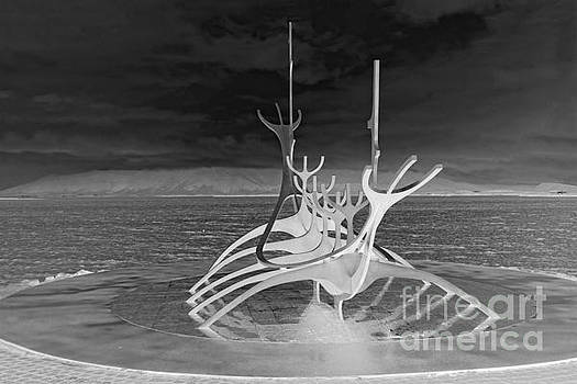 Sun Voyager, Reverse Black and White by Catherine Sherman