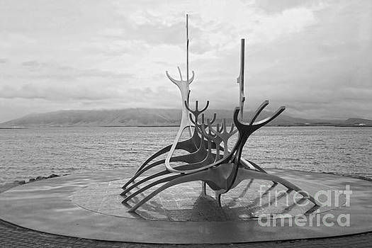 Sun Voyager, Reykjavik, Black and White by Catherine Sherman