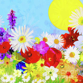 SUN with WILDFLOWERS by Neil Finnemore