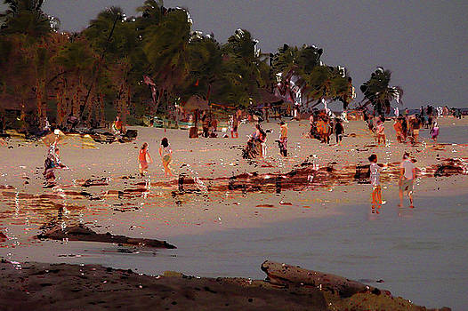 Sunbathers on Beach in Tulum by Eye Browses