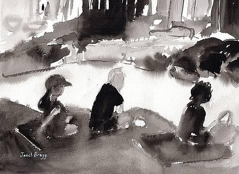 Sunbathers at Seafarer's Park by Janel Bragg