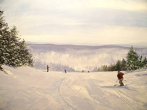 sunbowl at Stratton Mountain Vermont by Ken Ahlering