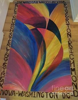 Sunburst FloorCloth by Judith Espinoza