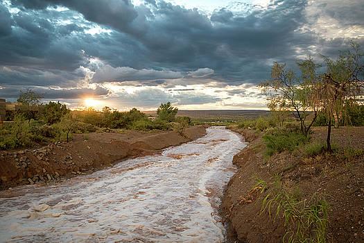 Sundance River at Sunset by Mary Lee Dereske