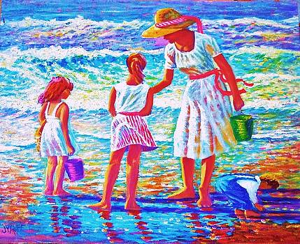 Sunday Afternoon at the Beach by Joseph   Ruff