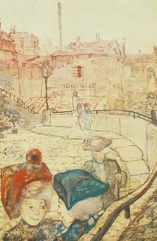 Sunday Afternoon In Como 1912 by Gulacsy Lajos